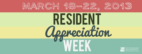 Kickoff Monday - CMC's Resident Appreciation Week 2013