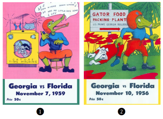 Retro Florida v.s. Georgia Posters